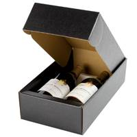 Nero Wine Bottle Box (2 Bottle) Nero Wine Bottle Carrier, Wine Packaging