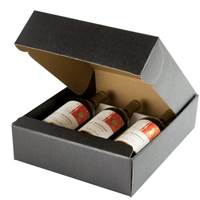 Nero Wine Bottle Box (3 Bottle) Nero Wine Bottle Carrier, Wine Packaging