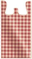 Red Gingham T-Shirt Bags (Small)