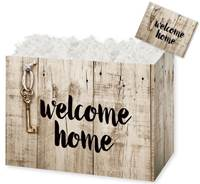 Rustic Welcome Home Gift Basket Boxes Gift Basket Boxes, Gift Basket Packaging