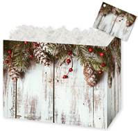 Rustic Winter Gift Basket Boxes Gift Basket Boxes, Gift Basket Packaging