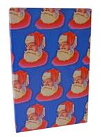 Santa on Blue Gift Wrap (FREE FREIGHT)