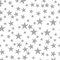 Silver Stars on White Tissue Paper