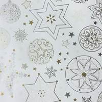 Smilla White Gift Wrap Paper