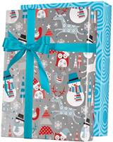 Snowplay Reversible Gift Wrap Paper Wholesale Gift Wrap Paper, Christmas Gift Wrap Paper