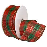 Splendor Plaid Holiday Wired Ribbon
