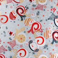 Swirling Snowman Gift Wrap Paper Wholesale gift wrap paper, Jillson & Roberts gift wrap, Christmas gift wrap, Winter gift wrap, Holiday gift wrap, Hanukkah gift wrap