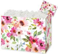 Watercolor Bouquet Gift Basket Boxes Gift Basket Boxes, Gift Basket Packaging
