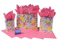 Watercolor Flowers Collection Paper Shopping Bags (Vogue)