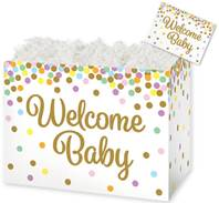 Welcome Baby Confetti Gift Basket Boxes Gift Basket Boxes, Gift Basket Packaging