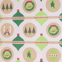 Western Ornaments Gift Wrap Paper