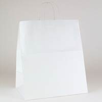 White Kraft Shopping Bags Ink Printed (King)
