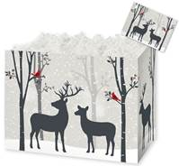 Woodland Deer Gift Basket Boxes Gift Basket Boxes, Gift Basket Packaging