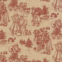 Christmas Toile Burgundy Ti