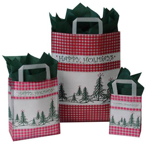 Closeout Plaid Tree Frosted