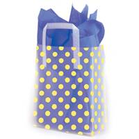 Yellow Dots Frosted Shopping Bags (Pup)