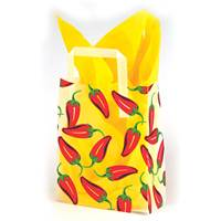 Chili Peppers Frosted Shopping Bags (Pup)