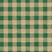 Gingham Green on Kraft Tissue Paper