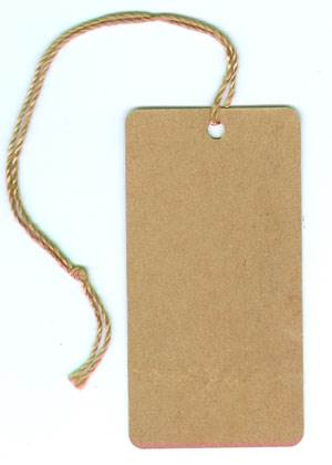 B) Kraft String Tags (unprinted)