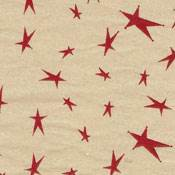 Mini Stars Burgundy on Kraft Tissue