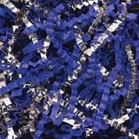 Royal Blue/Silver Silver Blend Crinkle Cut Shred