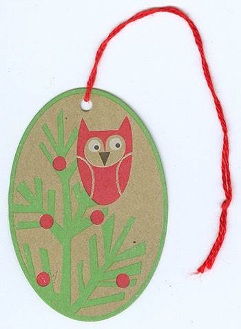 Winter Owl String Tags